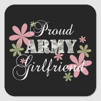 Proud Army Girlfriend [fl c] Square Sticker