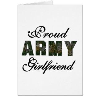 Proud Army Girlfriend Greeting Card