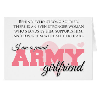 Proud Army Girlfriend Greeting Cards