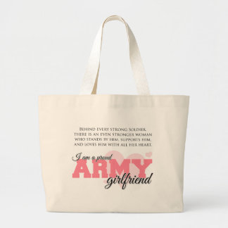 Proud Army Girlfriend Large Tote Bag