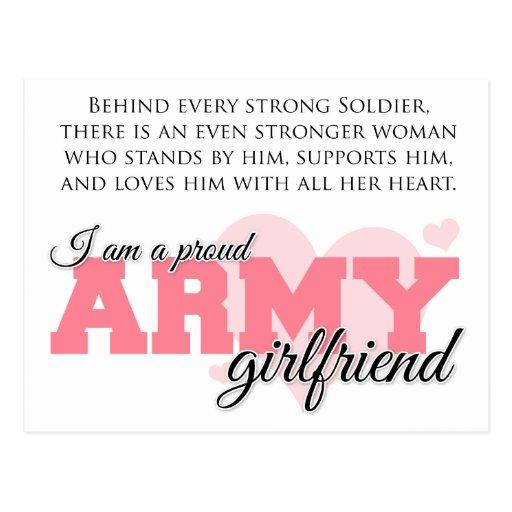 Proud Army Girlfriend Postcards