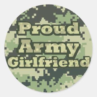 Proud Army Girlfriend Round Sticker