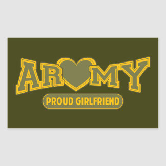 Proud Army Girlfriend Rectangle Sticker