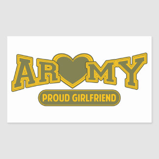 Proud Army Girlfriend Rectangular Stickers