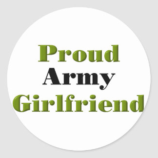 Proud Army Girlfriend Round Sticker