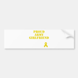 Proud Army Girlfriend with Ribbon Bumper Sticker