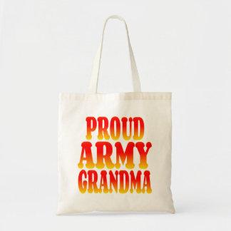 Proud Army Grandma in Cheerful Colors Tote Bag