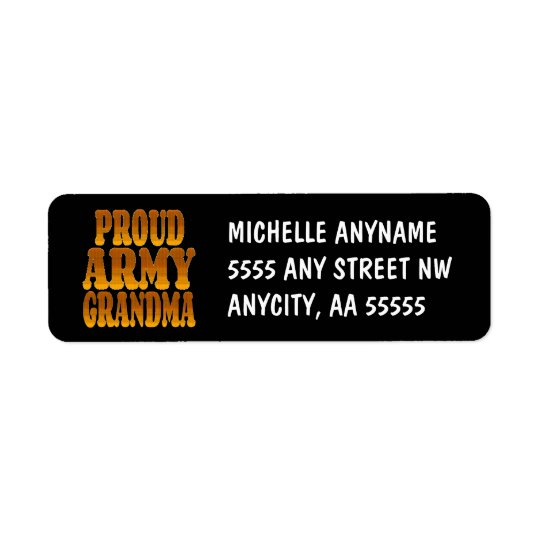 Proud Army Grandma in Gold