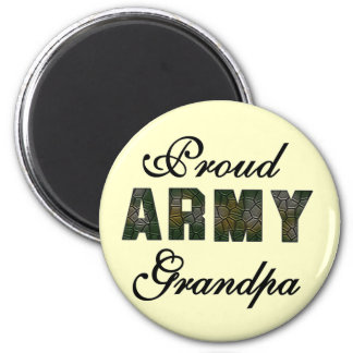 Proud Army Grandpa Tshirts and Gifts 6 Cm Round Magnet