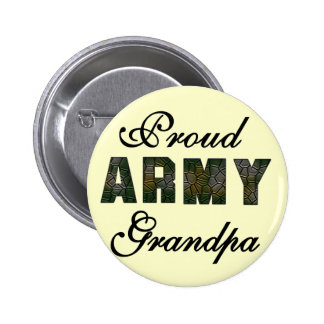 Proud Army Grandpa Tshirts and Gifts Pinback Buttons