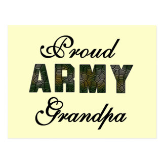 Proud Army Grandpa Tshirts and Gifts Postcard