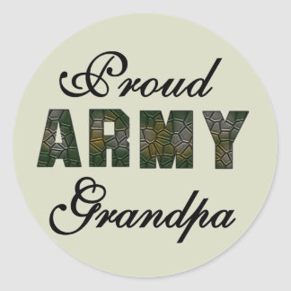 Proud Army Grandpa Tshirts and Gifts Round Sticker