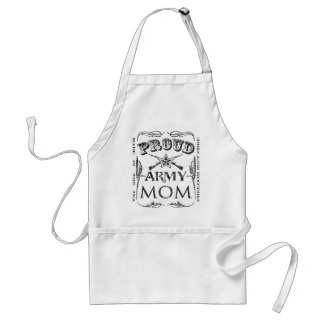 Proud Army Mom Adult Apron