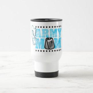 Proud Army Mom Blue Camo Travel Mug