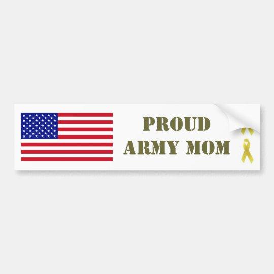 PROUD ARMY MOM Bumper Sticker