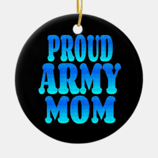 Proud Army Mom Christmas Ornament