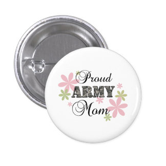 Proud Army Mom [fl c] Pinback Buttons
