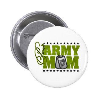 Proud Army Mom Green Camo Pin