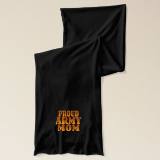 Proud Army Mom in Gold Scarf