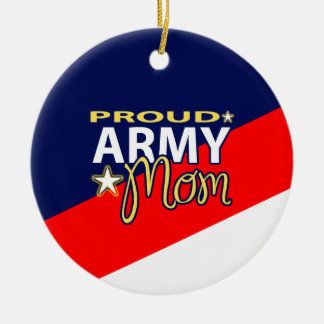 Proud Army Mom Ornament with Custom Picture