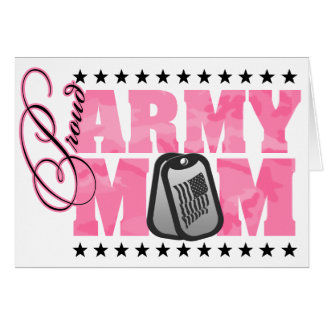 Proud Army Mom Pink Camo Card