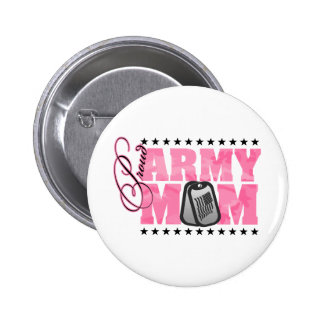Proud Army Mom Pink Camo Pinback Button
