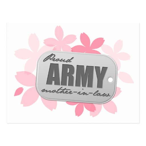 Proud Army Mother-in-law Flowers Post Cards