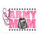 Proud Army Mum Pink Camo Postcards