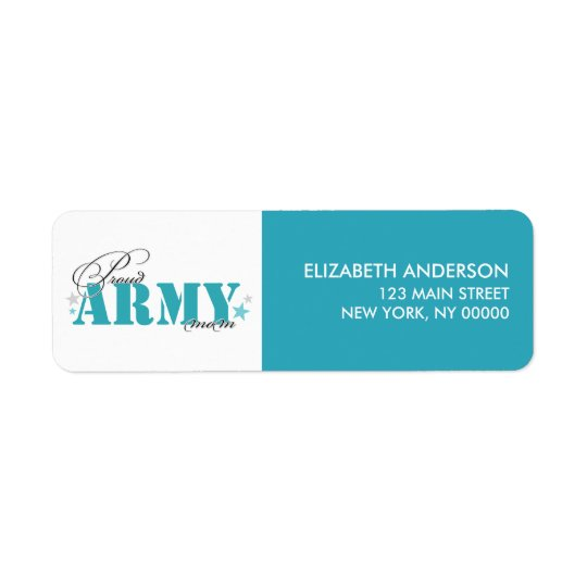 Proud Army Mum Return Address Label