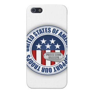 Proud Army National Guard Grandpa iPhone 5 Cases