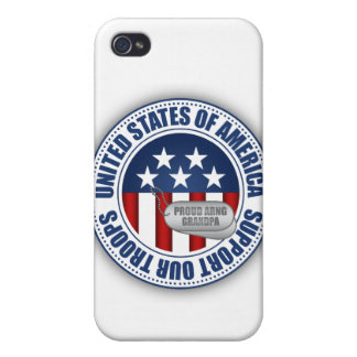 Proud Army National Guard Grandpa iPhone 4 Case