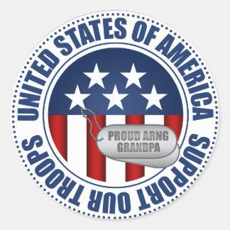Proud Army National Guard Grandpa Round Sticker