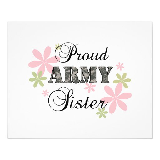 Proud Army Sister [fl c] Flyers