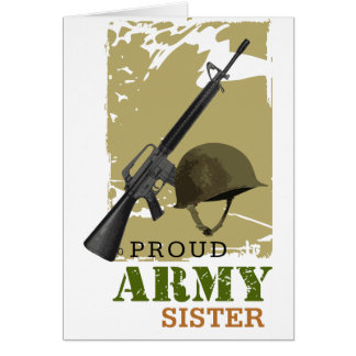 Proud Army Sister Greeting Card