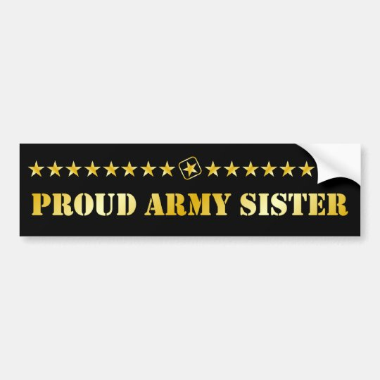 Proud Army Sister Stars Bumper Sticker