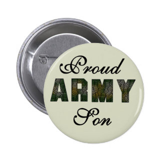 Proud Army Son Tshirts and Gifts 6 Cm Round Badge