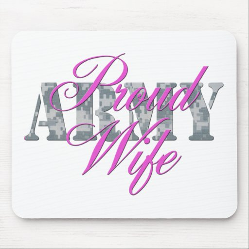 proud army wife acu mouse pad