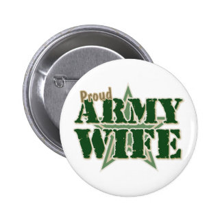 Proud Army Wife 6 Cm Round Badge