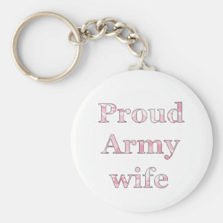 Proud Army Wife Key Ring