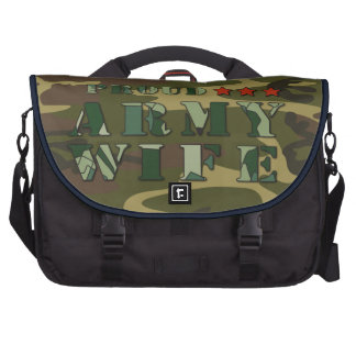 Proud Army Wife Laptop Bag