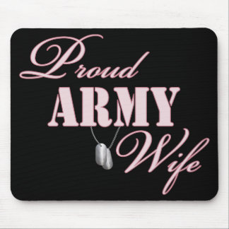 Proud Army Wife Mouse Mat