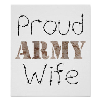 Proud Army Wife Poster