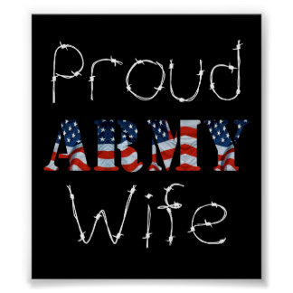 Proud Army Wife Posters