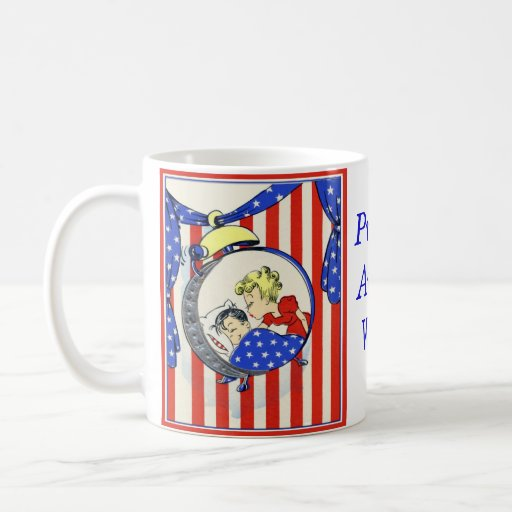proud Army wife vintage print design Mugs