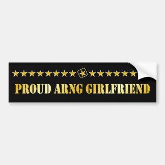 Proud ARNG Girlfriend Stars Bumper Sticker