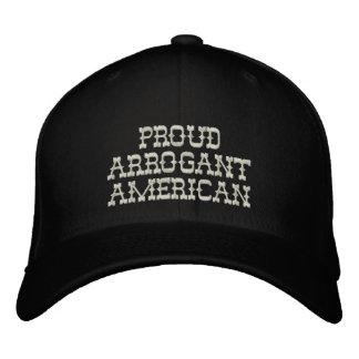 Proud Arrogant American Embroidered Baseball Caps