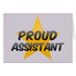 Proud Assistant Greeting Cards