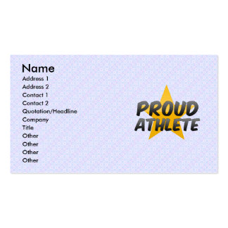 Proud Athlete Business Card Template