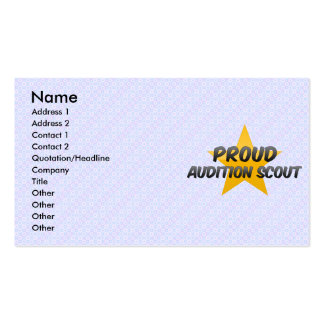 Proud Audition Scout Business Card Templates