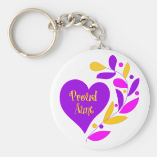 Proud Aunt Key Ring